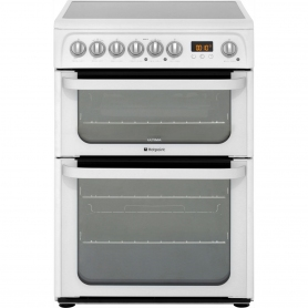 Hotpoint Ultima 60cm Electric Cooker With Double Oven White