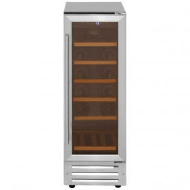 Lec GDHA Undercounter Wine Cooler 300mm Stainless Steel - 0