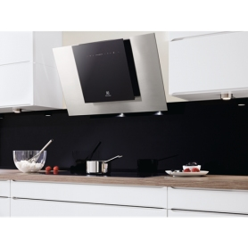 Electrolux 80cm Angled Chimney Hood Stainless Steel & Black - 2