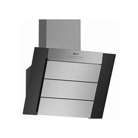 Neff 60cm Angled Chimney Hood Black Glass & Stainless Steel